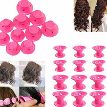 Load image into Gallery viewer, 10 PCS Silicone No Heat Hair DIY Curlers Magic Soft Rollers Hair Care Tool