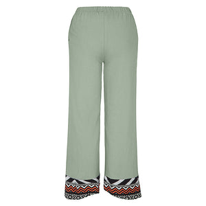 Casual Loose Cotton Blend Pants