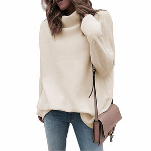Half-high Collar Pullover Loose Sweater