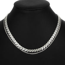Load image into Gallery viewer, Temperament Fashion Fishbone Chain Necklace
