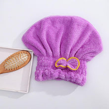 Load image into Gallery viewer, Women Bathroom Quick-Dry Hair Hat Super Absorbent Head Wrap Shower Cap