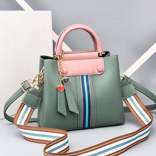 Candy Color Muti-Pocket Shoulder Bag