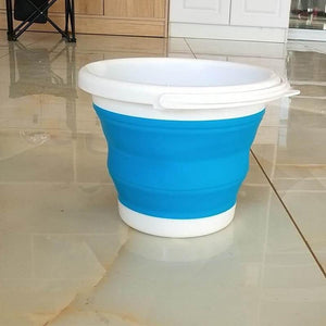 5L/10L Portable Folding Collapsible Silicone Ice Bucket Tray Tool Bowl Bucket