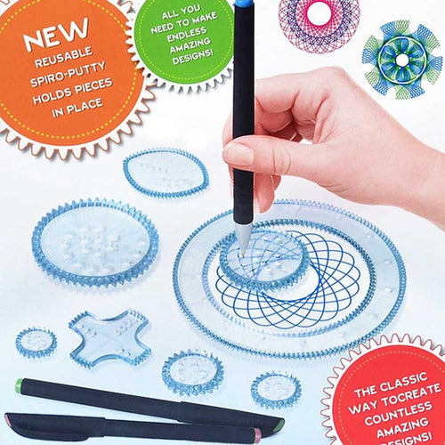 Children Educational Art Craft Gift Magic Creative Spirograph Drawing Toys