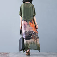 Load image into Gallery viewer, Summer Women Floral Loose Robes Ethnic V Neck Dresses