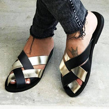 Load image into Gallery viewer, Casual Slip On Peep Toe Slide Sandals