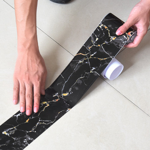 Marble Self Adhesive Waist Line Wallpaper Waterproof Decorative Wall Border
