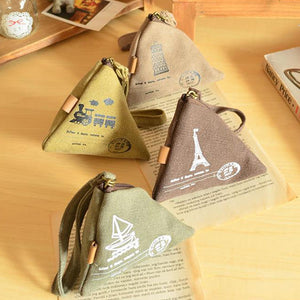 Vintage Printed Cute Zipper Canvas Wallets