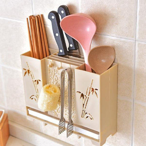 Wall-mounted Chopsticks Knife Storage Box