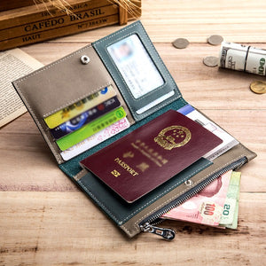 Travel Genuine Leather Passport Sleeve