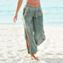 Load image into Gallery viewer, Women Casual Split Beach Pants