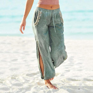 Women Casual Split Beach Pants