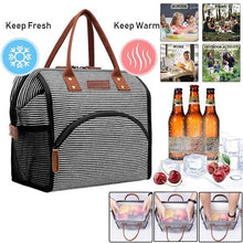 Load image into Gallery viewer, Stylish Lunch Bag Cooler Bag Women Men Tote Bag Insulated Lunch Box