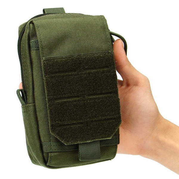Waterproof Outdoor Tactical Molle Belt Pack Waist Pouch Nylon Phone Bag