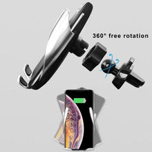 Load image into Gallery viewer, Infrared Sensor Automatic Wireless Charger Phone Holder