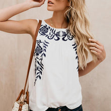Load image into Gallery viewer, Fashion Sleeveless Embroidered Tank Top