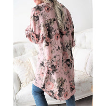 Load image into Gallery viewer, Casual Floral Printed Long Sleeve Shirt Collar Blouse