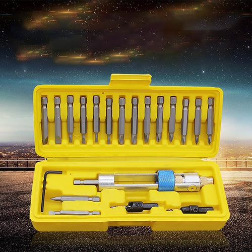 20 PCS High-speed Steel Countersink Drill Bit Multi-function Screwdriver Converter Set