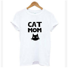 Load image into Gallery viewer, Cat Looking Outside Print Casual Funny T Shirt