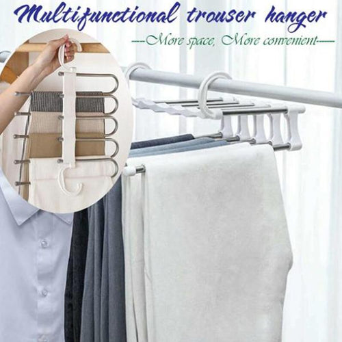 Trousers Hanger - 5 Tier Multi-function Pants Racks
