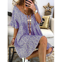 Load image into Gallery viewer, Women Floral Printed Short Sleeve Vintage Dresses