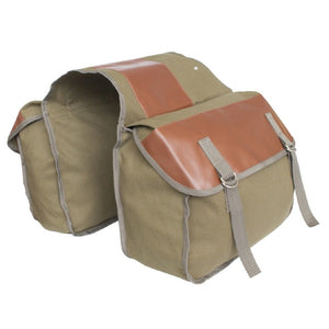 Motorcycle Side Tool Storage Pouch Universal Canvas Saddle Bag