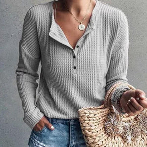 Patchwork Cotton Round Neck Blouses
