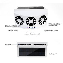 Load image into Gallery viewer, Vehicle 3 Cooler Fan Solar Energy Exhaust Fan