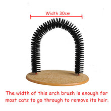 Load image into Gallery viewer, Automatic Remove Cat Hair Brush Tickle Anti-slip Catnip Gate Arch  Massage Comb