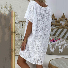 Load image into Gallery viewer, Casual Loose V Neck Lace Dress
