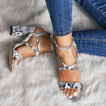 Load image into Gallery viewer, Women Rome Sandals Sexy Open Toe Gladiator High Heels Shoes