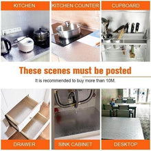 Load image into Gallery viewer, Aluminum Foil Kitchen Stickers Self Adhesive Oil Proof Stove Cabinet Stickers