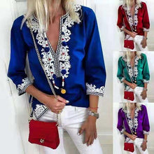Load image into Gallery viewer, Plus Size Fashion Bohemian Lace Blouses