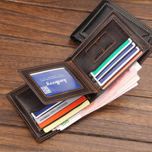 Load image into Gallery viewer, Men Casual Bi-Fold Purse English Style Short Wallet with Separate Card Holder