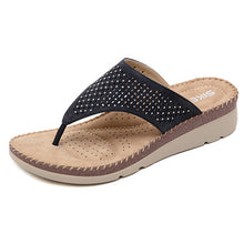 Load image into Gallery viewer, Women Clip Toe Bohemian Style Slippers Beach Shoes