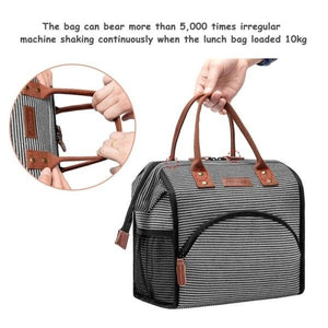 Stylish Lunch Bag Cooler Bag Women Men Tote Bag Insulated Lunch Box