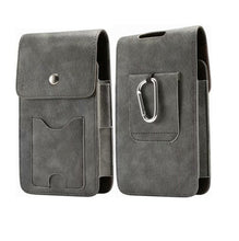 Load image into Gallery viewer, Vintage Dual Pouches Waist Belt Mobile Phone Bags with Card Holder