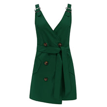 Load image into Gallery viewer, Women Deep V-Neck Sleeveless Mini Dress