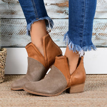 Load image into Gallery viewer, Faux Leather Two-Toned Booties