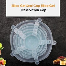 Load image into Gallery viewer, 6Pcs/Set Reusable Silicone Food Sealed Lids