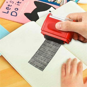 Creative Identity Privacy Anti-leakage Roller Stamp Messy Code