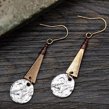 Load image into Gallery viewer, Women Antique Triangle Drop Earrings