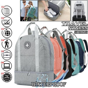 Waterproof Dry Wet Separation Travel Backpack Shoulder Bag