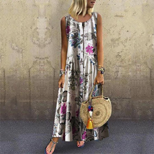 Load image into Gallery viewer, Elegant Sleeveless Printed Dress