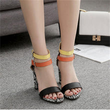 Load image into Gallery viewer, Women Fashion Chunky Heel Summer Sandals