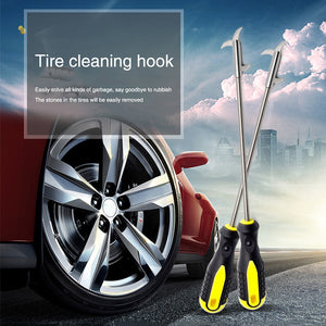 Car Tire Cleaning Hook Tire Care Cleaning Tool Groove Stones Cleaner