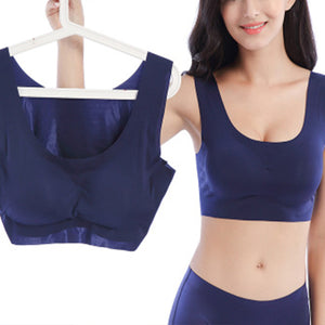 5/8Cup Wireless Solid Sports Vests Bras