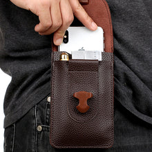 Load image into Gallery viewer, Mens Multifunctional Waterproof Mini 5.5 inch Ultra Thin Double Layer Waist Bag