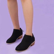 Load image into Gallery viewer, Women Pu Boots Casual Daily Chunky Heel Shoes