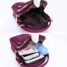 Load image into Gallery viewer, Nylon Waterproof Multi- Slot Solid Crossbody Mini Bag